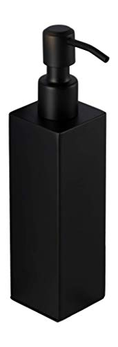 Ambrosya - Distributeur de Savon Autoportant en Acier Inoxydable en Noir - Porte-Savon Salle de Bain Toilettes (Acier Inoxydable (Noir), Angulaire)