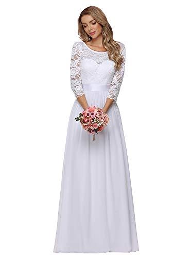 Ever-Pretty Robe de Soirée Manches 3/4 en Dentelle Transparente 07412