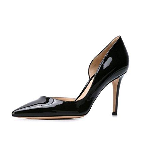 EDEFS - Escarpins Femme - Talon Haut Aiguille - Bout Pointu D'Orsay Chaussures de Mariee Soiree