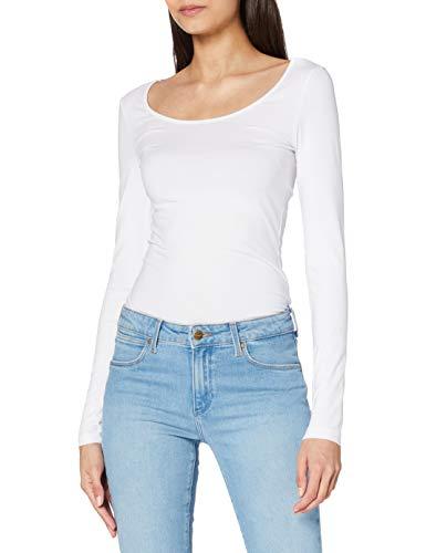 Vero Moda Vmmaxi My Ls Soft Long U-Neck Noos T-Shirt Femme