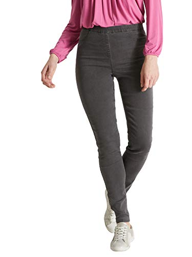Balsamik - Legging en Denim - Femme - Taille : 40 - Couleur : Denim Gris