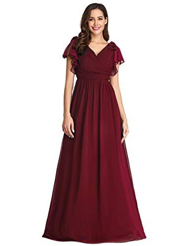 Ever-Pretty Robe de Soirée Demoiselle d'honneur Col en V A-Line Taille Empire Femme EZ07709