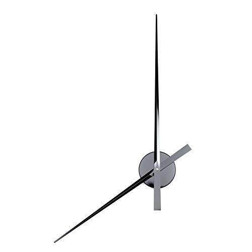 Horloge murale design à grandes aiguilles | Ø 90 cm | Aluminium | Décoration murale, mouvement et grande horloge | Couleur : noir