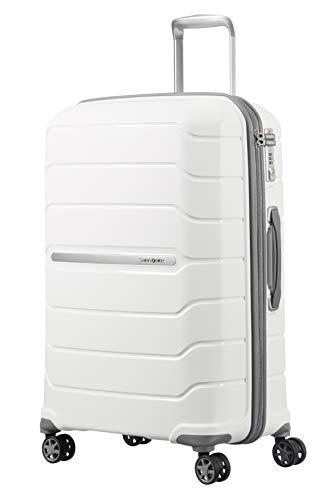 SAMSONITE Flux - Spinner 75/28 Expandable Bagage cabine, 75 cm, 121 liters, Blanc (Blanc)