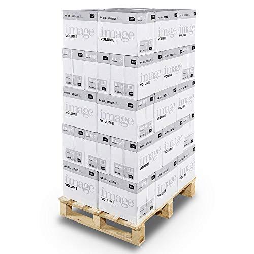 Image Volume - Papier multifonction Blanc 80 g/m² A4 - Lot de 40 cartons - 200 ramettes de 500 feuilles - 100.000 feuilles