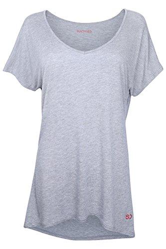 Sundried T-Shirt Yoga et Gym Ample pour Femme par Le créateur de vêtements de Sports Ethnique Ample, Confortable, Luxueux et Doux