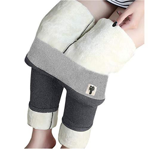 FeelFree+ Legging doublé polaire Pantalon femme, Jegging Extensible Taille Haute, Doux Chaud collant Thermique hiver Grande Taille Signe Chat/papillon/lune/libellule