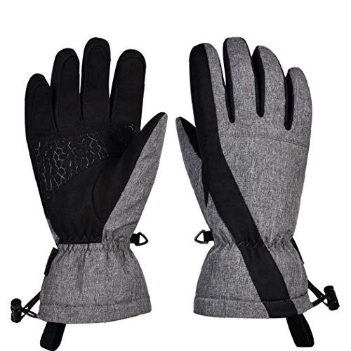 FHKBB Gants de Ski écran Tactile Hiver Neige Thermique Coupe-Vent Noir Gants pour Le Ski par Temps Froid Snowboard & iuml; & frac14; & circ; s & iuml; & frac14; & permil;