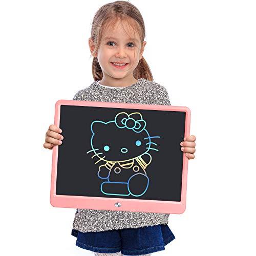 Jefshon 15 Pouces Ardoise Magique Tablette pour Enfant 2-10 Ans, Tablette Magique de Dessin Enfants Jouets pour Filles Planche à Dessin Doodle Tablette Cadeau pour Filles Garçons Tout-Petits, Rose