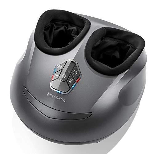 MARNUR Masseur Pieds Appareil Massage Pied Shiatsu Chauffant Electrique avec Roulant et Pression d'Air pour Relaxation à la Maison et au Bureau