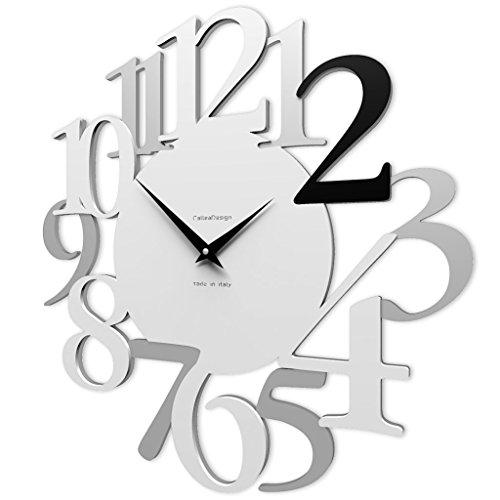 CalleaDesign Horloge Murale Noire Russell 45 cm
