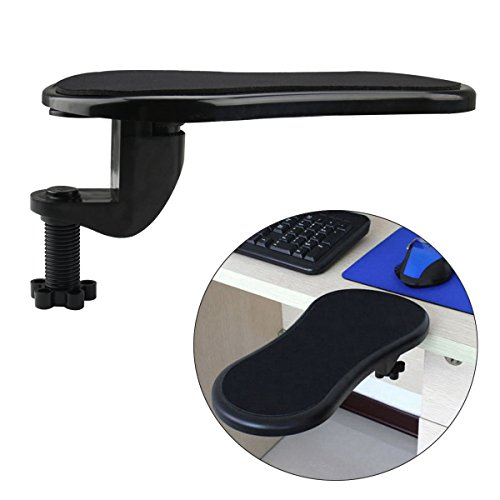 Cusfull Repose-bras réglable/Repose-Poignet Support Tapis de Souris pour soutenir le bras et le poignet lors de l'utilisation de la souris d'ordinateur Pour la maison & le bureau S'attache au bureau