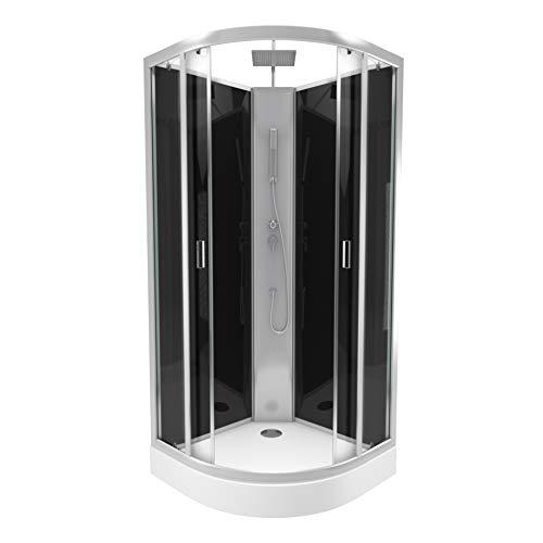 Cabine de douche 1/4 de cercle 85x85x225cm - douche de tete reglable en hauteur - LIFT UP