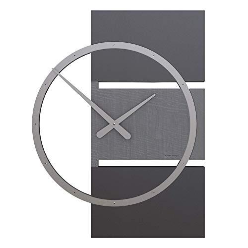 CalleaDesign 45 cm Horloge Murale Adam bruyère Grise