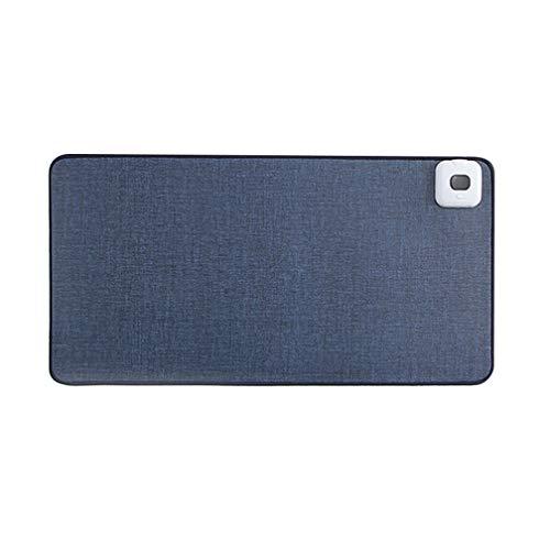 Tapis de bureau multifonction double face, imperméable, anti-salissure, protecteur de bureau en cuir, tapis de souris chauffant (80 x 36,1 cm), bleu)