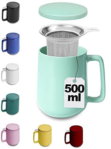 Grande Tasse à Thé avec Infuseur et Couvercle - 500 ml - Bien au chaud -