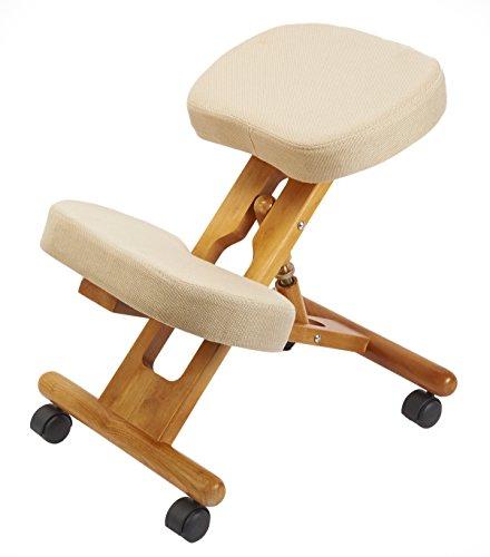 Archimede F 2902 Chaise de Bureau orthopédique Ergonomique en Bois