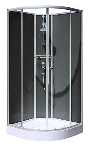 Schulte Cabine de douche complète arrondie avec portes coulissantes, 90x90x200 cm