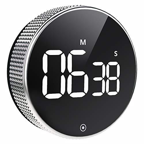 Minuteur de Cuisine Aimanté, Kitchen Timer Compte à Rebours Magnétique, Chronomètre Numérique LED, Portable pour Etudiants Sport et Beauté