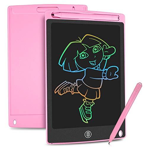HOMESTEC Tablette d'écriture LCD colorée, Planche à Dessin de 8,5 Pouces Tablette Graphique Serrure à clé Écriture Manuscrite Doodle Dessin Pad Enfants Jouets Cadeaux pour garçons Filles (Rose)