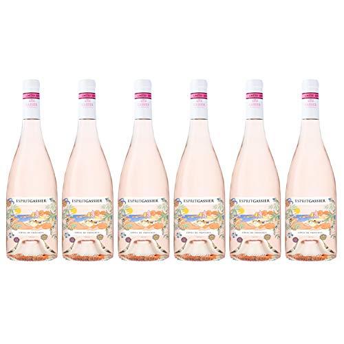 Esprit Gassier 2019, appellation cotes de provence, vin rose, lot de 6 bouteilles