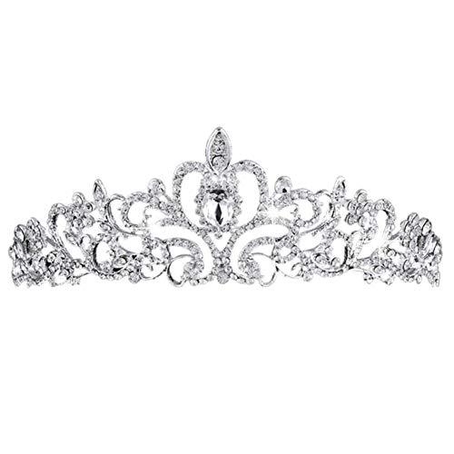 BETOY Tiara Cristal Couronne Cristal Mariage Diadème Strass Cristal Tiara Rétro pour Mariage Princesse Parties