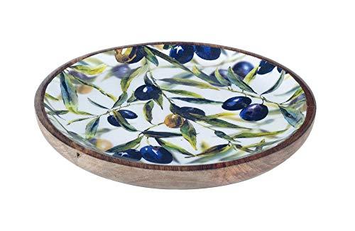 G&S Grande Assiette Provence : Thème Olives. D 22,5 cm.
