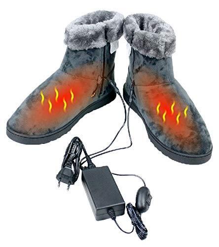 ObboMed MF-2620M 12V 20W Chaussons chauffant avec fibre de carbone chauffant - taille : 37 à 40 Pantoufle chauffants, solution pour pieds froids