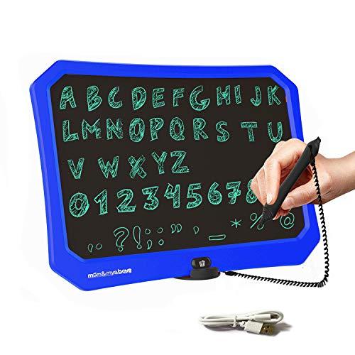 JRD&BS WINL 17 Pouces Tableau D'ÉCriture LCD Pour Enfants, Jouets De Dessin Pour Garçons Et Filles ÂgÉS De 3 À 15 Ans,Tableau De Messages D'ÉCriture RÉPÉTÉE, Tableau De Graffitis Pour Enfants (Bleu)