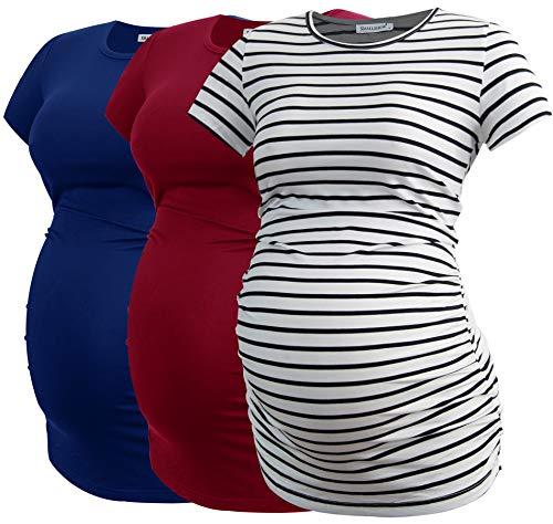 Smallshow Femmes Vêtements de Maternité Tops Vêtements de Grossesse 3-Pack