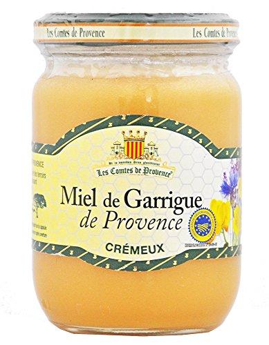 Miel de Garrigue de Provence crémeux Les Comtes de Provence, 100% naturel, authentique et savoureux - Lot de 3 pots