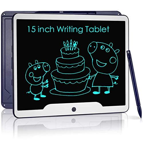 NOBES Ardoise Magique,Tablette d'écriture LCD 15 Pouces,Grande Tableau de Dessin Effaçable Enfants, Créatif Jouet Educatif pour 3-10 Ans Filles Garçon (Bleu)