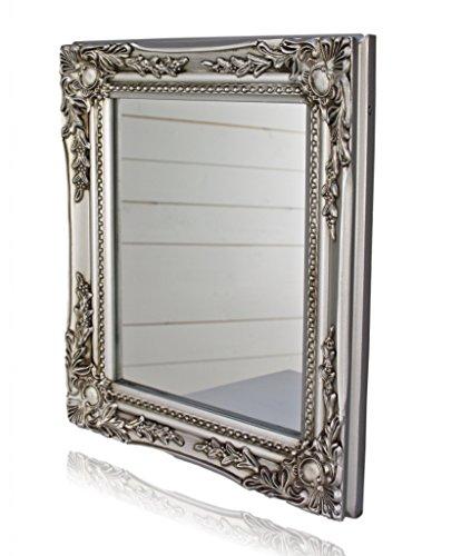 Miroir mural., Bois, noir, 32 x 27cm