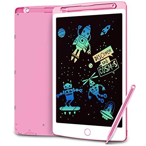 Coovee Tablette d'Ecriture LCD, 10 Pouces, Fonction de Suppression Partielle & Verrouillage, Portable pour l'écriture et Le Dessin sans Papier, Idéal pour Enfants Maison Bureau École (Rose)